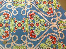 Michael Miller Ooh La La Coeur de Fleurs Blue Floral Cotton Quilting Fabric FQ