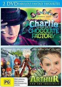 NEW Arthur & The Invisibles / Charlie & Chocolate Factory DVD4