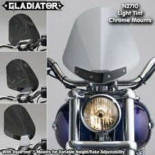 HARLEY FXDF DYNA FAT BOB GLADIATOR N.C. WINDSHIELD LT TINT CHROME MNTS N2710