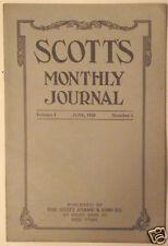 Original June 1920 Scott's Monthly Journal V1N4 Stamps