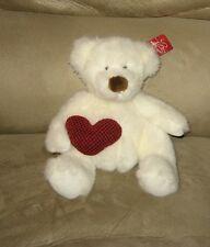 "New Sitting 8"" Russ Bear Hugs Bear Holding Valentine Heart Bean Tush Plush"