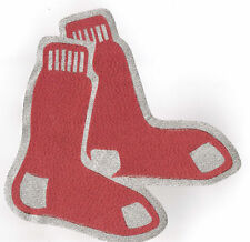 HUGE METALLIC BOSTON RED SOX IRON-ON PATCH