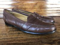 Men's Cole Haan Bragano Dress Loafers Shoes Soft Brown Leather Size 10.5