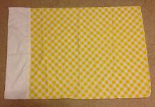 Vintage Perma Prest Yellow & White Checkered Standard Muslin Pillowcase