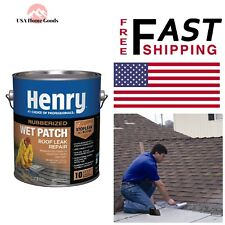 208R Rubberized Wet Patch Roof Cement 0.90 Gal. Seals Leaks Dry Repairs Sealants