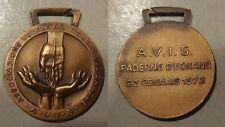 medaglia avis Paderno Dugnano 1972