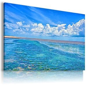 BRAZIL RIO DE JANEIRO BEACH OCEAN View Canvas Wall Art Picture   L295  MATAGA