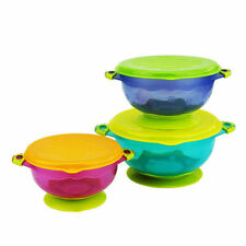 3pcs Children Sucker Bowl Three Sets Slip-Resistant Tableware Sucker Bowl 4113
