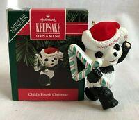Hallmark Keepsake Ornament Child's 4th Christmas Panda Original Box