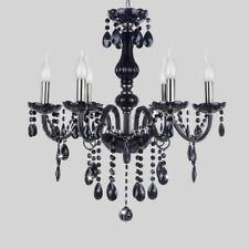 6 Leuchte Kronleuchter Deckenleuchte Pendelleuchte Deckenlampe Schwarz Lüster DE