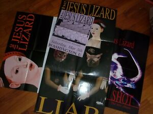 THE JESUS LIZARD - lot of 4 original U.S. 1990s vintage posters - Touch And Go