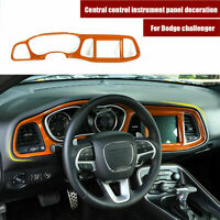 Center Console Dashboard Panel Cover Trim Frame for Challenger 2015-2019 Orange
