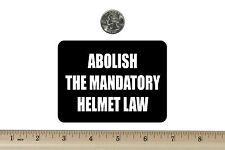 3 x 4 Biker Refrigerator Magnet Abolish The  Helmet Law BM025