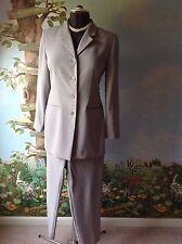 Valerie Stevens Gray Long Sleeve Pant Suit Size 8P