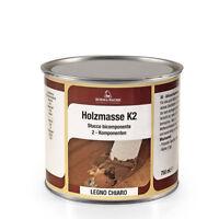 STUCCO LEGNO BICOMPONENTE 125ml HOLZMASSE K2  PROFESSIONALE BIANCO LEGNO CHIARO