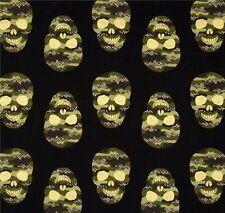 Totenköpfe Camouflage Stoff Patchworkstoff Gothic Skulls Halloween Military Deko