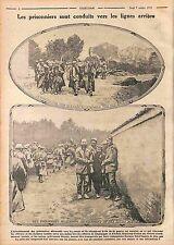 Camp Blessés Prisoners Feldgrauen Deutsches Heer Prisonniers Allemands WWI 1915