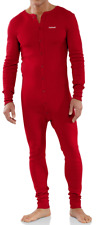 Carhartt Men's Midweight Cotton Union Suit Red NEW Thermal Pajamas work wear M