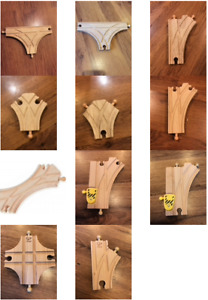 Wooden Train Track Junctions - Brio, Bigjigs, Hape & Other (postage offer)