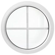 Rundfenster Fest mit Sprosen Weiß / Ausmaß 50cm 55cm 60cm 70cm 80cm 90cm 100cm