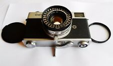 Canon Canonet 35mm Rangefinder Film Camera SN251339 w/SE 45mm F/1.9 Lens GREAT!!