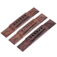 3pcs Pyramid Acoustic Guitar Bridge  6 String Slotted Brige No Finish