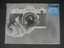Canon Fx 1967 Camera Instruction Manual / User Guide