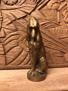 ancien sceau cachet En Bronze,représentant Un Chien Sculpteur MEISMER