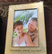 25 Years Frame, Celebrate Any 25 Years, Hallmark Metal Easel Frame, 4� By 6�