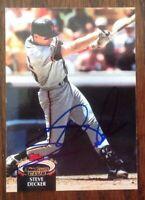 Steve Decker Hand Signed 1992 Topps Stadium Baseball Card San Francisco Giants