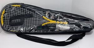 Prince Squash Starter Kit (John White) Black And Yellow New