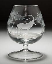 Rowland ward pour moser safari série brandy glass-antilope