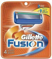 Gillette Fusion Razor Blades Refill Cartridges 4 Count