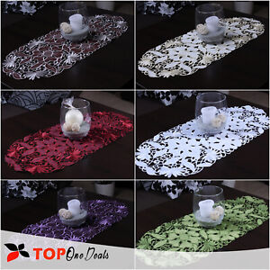Amazing Oval Embroidered Table Runners Tablecloths Floral Table Decorations New