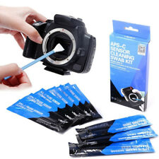 VSGO APS-C CMOS CCD Sensor Cleaning Swab Fluid Set 12Pcs For DSLR Digital Camera