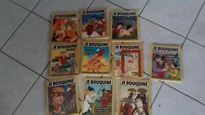 rare lot 10 des premiers numeros-JE BOUQUINE-revue enfant vintage 1985-free port