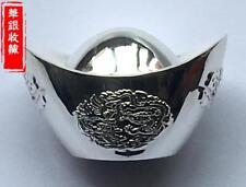 shoe-shaped silver ingot yuanbao 100g .999 silver 元宝