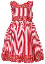 Vestidos de niña de 2 a 16 años de color principal rojo 100% algodón sin mangas