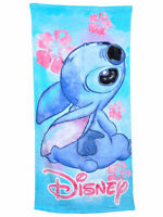Stitch Floral Cotton Bath and Beach Towel Blue 58x28