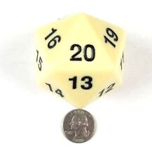 """Vintage Magic the Gathering Game 20 Sided Life Counter Dice 2 1/4"""" Spindown"""