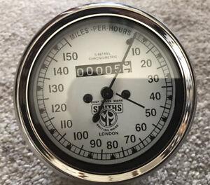 Smiths Chronometric Speedometer 0-150 MPH M.A TYPE -Replica 85 mm Diameter