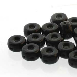 Octo Czech Pressed Glass 8mm 3-hole Beads Coin 20 Beads U-Pick