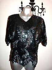 Sequin Vintage Tops & Blouses for Women