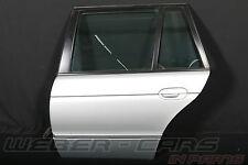 >BMW 5er E39 Touring Tür HL hinten links Scheibe Griff Schloss silber rear door<