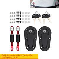 NEW Flush Mount Bonnet Pins Locking Generation Car Flush Hood Latch Pin Kit