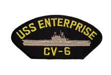 USS ENTERPRISE CV-6 PATCH USN NAVY SHIP BIG E YORKTOWN CLASS AIRCRAFT CARRIER