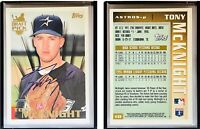 Tony McKnight Signed 1996 Topps #18 Card Houston Astros Auto Autograph