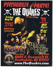 Quakes promo Card 2012 gig collectible Psychobilly Rezurex Kitty In A Casket