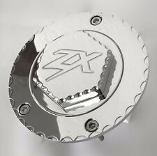 06-11-12-17 ZX-14R ZX14 04-15 ZX10R Chrome Ball Cut 3D Hex Engraved Gas Cap Lid!