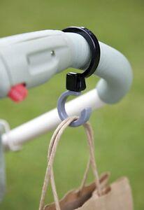 NEW Diono Buggy Hooks Stroller Pram Bag Holder Baby Shopping Clips Double Pack
